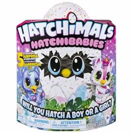 Hatchimals 6046468 - HatchiBabies Unikeet, Ei mit Baby-Hatchimal und interaktiven Accessoires - 1
